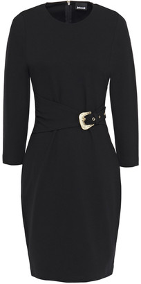 Just Cavalli Belted Jersey Mini Dress