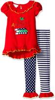 Bonnie Jean Little Girls Apple Knit Tunic and Leggings, Sz