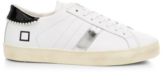 D.A.T.E Hill Low Faux Pearl-Embellished Leather Sneakers