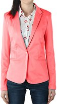 Bestgift Womens Casual Work Solid Slim Blazer m