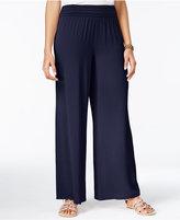 Amy Byer Juniors' Wide-Leg Soft Pants