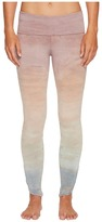 Hard Tail Contour Rolldown Fleur-De-Lis Ankle Leggings Women's Workout