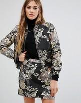 Fashion Union Metallic Embroidered Jacket Co-Ord