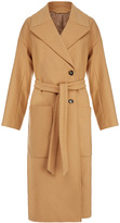 J. Lindeberg Agnes Camel Oversized Melton Wool-Blend Coat