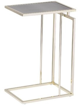 Mercer41 Howell End Table Table Base Color: Champagne, Table Top Color: Antique Mirror