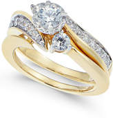 Macy's Diamond Swirl Bridal Set (1 ct. t.w.) in 14k Gold