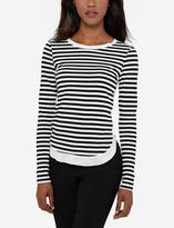 The Limited Eva Longoria Long Sleeve Stripe Tee