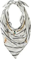 BCBGeneration Women's Striped Layered Triangle Scarf