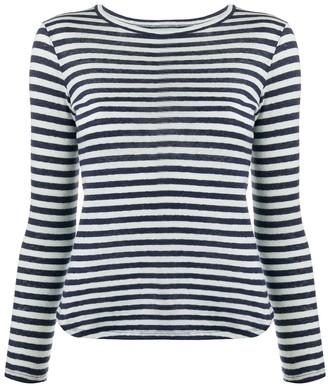 YMC striped long-sleeved T-shirt