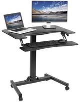 Vivo Two Platform Pneumatic Mobile Height Adjustable Standing Desk