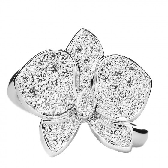 18K White Gold Diamond Caresse D'Orchidees Par Cartier Ring