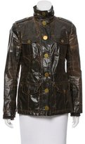 Tory Burch Coated Stand Collar Jacket