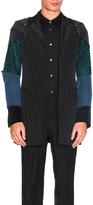 Comme des Garcons Wool Jacquard Coat