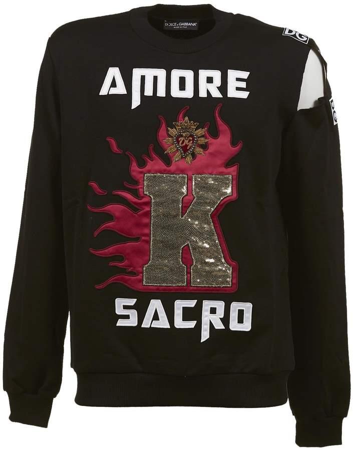 Dolce & Gabbana Dolce Gabbana Logo Patch Sweatshirt