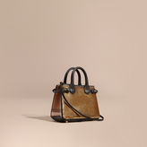 Burberry The Baby Banner in Sequins, Check and Leather