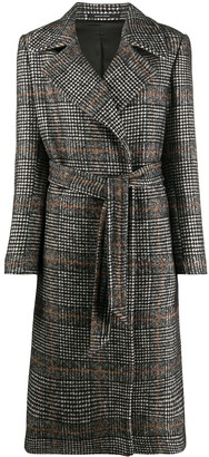 Tagliatore Belted Check Trenchcoat