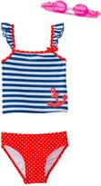 Jump N Splash Girls' Sweet Sailor TwoPiece Swimsuit w/ Free Goggles (4-6X) - 8143018