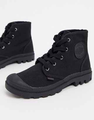 Palladium Pampa Hi lace-up ankle boots in black