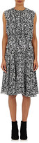 Derek Lam Women's Plissé Chiffon Dress-BLACK, WHITE, NO COLOR