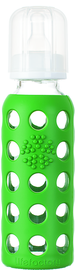 Green Baby Lifefactory Glass Baby Bottles 9 oz