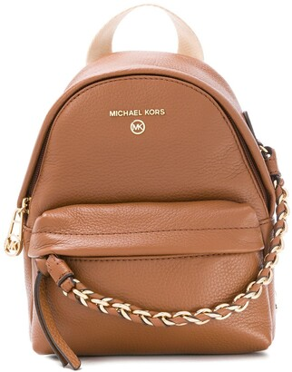 MICHAEL Michael Kors Chain Detail Leather Backpack
