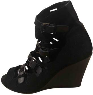 Surface to Air Black Suede Sandals