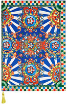 Dolce & Gabbana Carretto Printed Twill Notebook - Royal blue