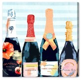 Oliver Gal Champagne Flower Canvas Wall Art