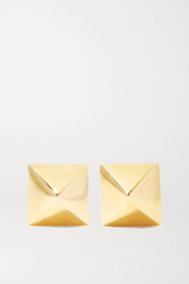Anita Ko Spike 14-karat Gold Earrings