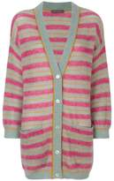 Alberta Ferretti striped V-neck cardigan