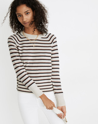 Madewell (Re)sponsible Cashmere Roll-Trim Pullover Sweater in Stripe