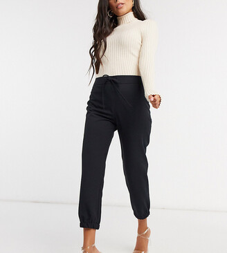 ASOS DESIGN Petite woven jogger in black