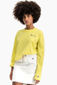 Champion Yellow Long Sleeve T Shirt - XS