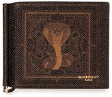 Givenchy Men's Coated Canvas Cobra-Print Money Clip Wallet, Black