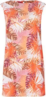 Wallis PETITE Orange Embellished Printed Shift Dress