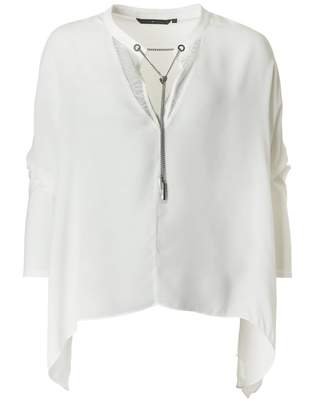 Silvian Heach Wide Sleeved Blouse Colour: Latte, Size: XS