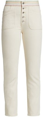RE/DONE The Blanca High-Rise Straight Jeans