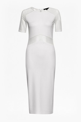 French Connection Arrow Mesh Fitted Dress