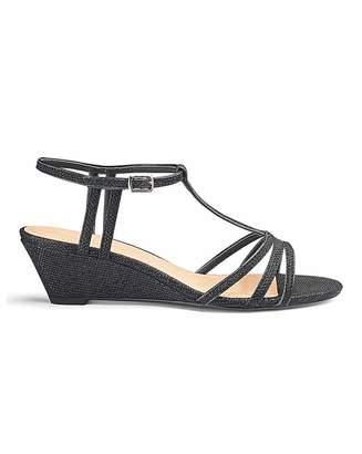 Jd Williams T Bar Wedge Sandals E Fit