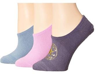 Converse Metallic Classic Chuck Patch 3-Pair Pack MFC (Moody Purple/Peony/Blue Slate) Women's Crew Cut Socks Shoes