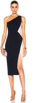 Cushnie et Ochs One Shoulder Color Block Stretch Viscose Dress