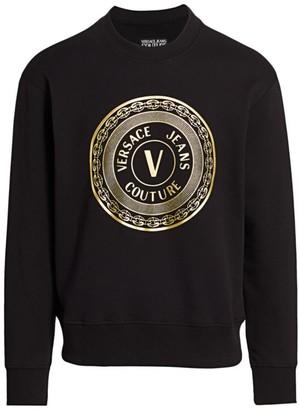 Versace New Buttons Foil Logo Sweatshirt