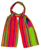 Saint Laurent Multicolor Striped Scarf
