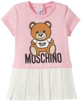 Moschino Tee and Pleated Skirt Dress (Baby) - Pink - 12/18 Months