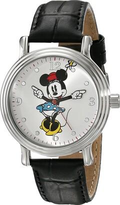 Disney Women's W001873 Minnie Mouse Analog Display Analog Quartz Black Watch