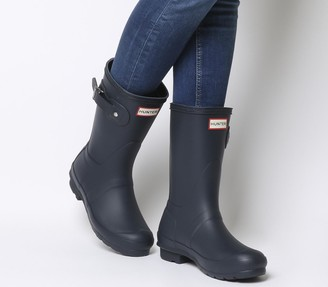 Hunter Womens Original Short Wellies Navy