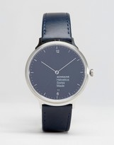 Mondaine Helvetica No1 Light Watch In Navy/Silver 38mm