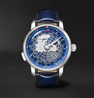Montblanc Star Legacy Orbis Terrarum Automatic 43mm Stainless Steel And Alligator Watch, Ref. No. 126108