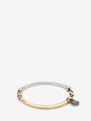 Alexander McQueen Bi-Color Skull Bracelet