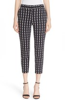 Theory 'Treeca 2' Geometric Plaid Cigarette Pants